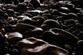 Picture pebbles, stones, dark