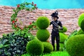 Picture the sky, wall, Johnny Depp, toys, yard, Edward Scissorhands