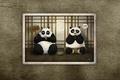 Picture neponyatki, Kung Fu Panda, eat, look, the trick, sitting, Kung fu Panda, the conversation, Panda, ...