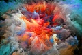 Picture smoke, abstraction, paint, the explosion, brightness