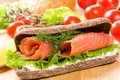 Picture Fast food, tomatoes, sandwich, bread, tomatoes, bread, fish, fish