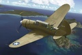 Picture American, art, WW2, the plane, Shrike, Helldiver, BBC, Filip Zierfuss., A-25A, SB2С-1, multipurpose, bomber, scout, ...