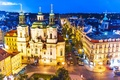 Picture lights, capital, the evening, Prague, Czech Republic, the city
