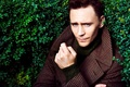 Picture Tom Hiddleston, male, greens, coat, the bushes, actor, Tom Hiddleston