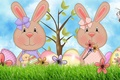 Picture Easter Bunny, art, bee, Easter, tree, chicken, Bunny, egg, bow, flower