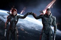 Picture weapons, Mass Effect, the game, armor, art, John Shepard, Jane Shepard