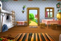 Picture furniture, House, greens, oven, samovar, yard