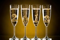Picture holiday, New Year, glasses, Christmas, figures, champagne, 2013