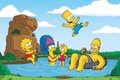 Picture the simpsons, Maggie, Marge, homer, stay, bart, the simpsons, Bart, maggie, Lisa, nature, marge, Homer, ...