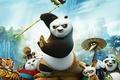 Picture mountains, cartoon, village, master, tigress, Panda, characters, Kung Fu Panda 3, Kung fu Panda 3, ...