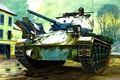 Picture war, art, painting, tank, M24 Chaffee