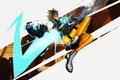 Picture girl, Blizzard, art, shooter, fps, Overwatch, Tracer