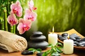 Picture candles, bamboo, black, towel, flower, massage, spa, Orchid, Spa, stones