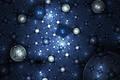 Picture circles, blue, balls, glow