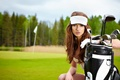 Picture summer, Golf, types, sport, Isabela, bag, practicing, athlete, training, beautiful, field, golf, sports, bag, woman, ...