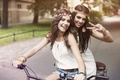 Picture bike, smile, mood, views, girls, friend