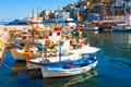 Picture sea, boats, Santorini, nature, home, Greece, landscape