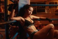 Picture body, Boxing, girl, the ring, look