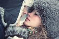 Picture two, fur, girl, guy, caps, kiss