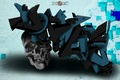 Picture the inscription, graffiti, skull, sake, the end of the world, doomsday, firex