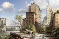 Picture devastation, ruins, postapokalipsis