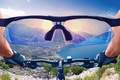 Picture look, the sun, mountains, bike, concentration, earth, jump, sport, view, goal, glasses, face, the air, ...