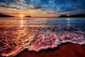 Picture sea, the sun, surf