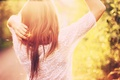 Picture girl, the sun, hair, back, bokeh