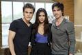 Picture The vampire diaries, Paul Wesley, Paul Wesley, The Vampire Diaries, Nina Dobrev, Nina Dobrev, Ian ...