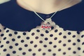 Picture girl, background, Wallpaper, mood, clothing, London, polka dot, bus, london, jacket, the necklace, trabsport