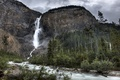 Picture waterfall, mountain, nature