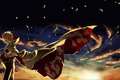 Picture leaves, sunset, clouds, the wind, naruto, ninja, Naruto, Hokage, hokage