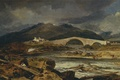 Picture clouds, bridge, mountains, home, Tummel Bridge, Perthshire, William Turner, the sky, river, landscape