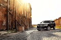 Picture auto, Dodge Durango, sunset, black