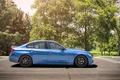 Picture BMW, wheels, side, Vorsteiner, blue, 328i, f30