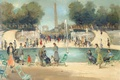 Picture picture, Park, trees, people, The Tuileries Garden, Marseille Dif, fountain, landscape