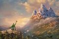 Picture Boy, Child, Water, The Good Dinosaur, Shine, Fantasy, Walt Disney Pictures, Landscape, Ice, Spot, Flowers, ...