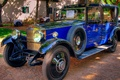 Picture retro, car, blue