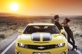 Picture Machine, guy, road, Chevrolet, girl, car, auto, the sun, the sky
