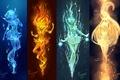 Picture art, electricity, mizuno ami, kaminary, anime, water, sailor mars, Bishoujo Senshi Sailor Moon, fire, sailor ...