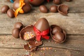 Picture eggs, Happy, chocolate, Easter, eggs, Easter, chocolate, decoration