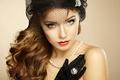 Picture beautiful woman, Retro portrait, vintage style