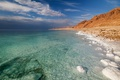 Picture clouds, the sky, the dead sea, clean water, sea, sand, nature, salt, beauty