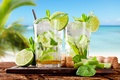 Picture beach, summer, tropics, cocktail, lime, summer, drink, beach, mint, drink, cocktail, lime, mint, tropics