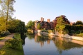 Picture Jerwood Library, Park, Trinity Hall College, England, river, the city