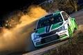 Picture Dust, Turn, Rally, Rally, Skoda, Fabia, WRC2