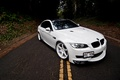 Picture markup, road, white, bmw, BMW, white, coupe, e92, the hood, the front