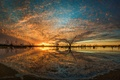 Picture nature, Campbell's Swamp, Lake Wyangan, sunset, river, landscape, Australia