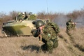 Picture assault, soldiers, landing, 7th, landing, photo Wallpaper, exercises., division, BMD