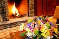 Picture flowers, macro, interior, bouquet, fireplace, design